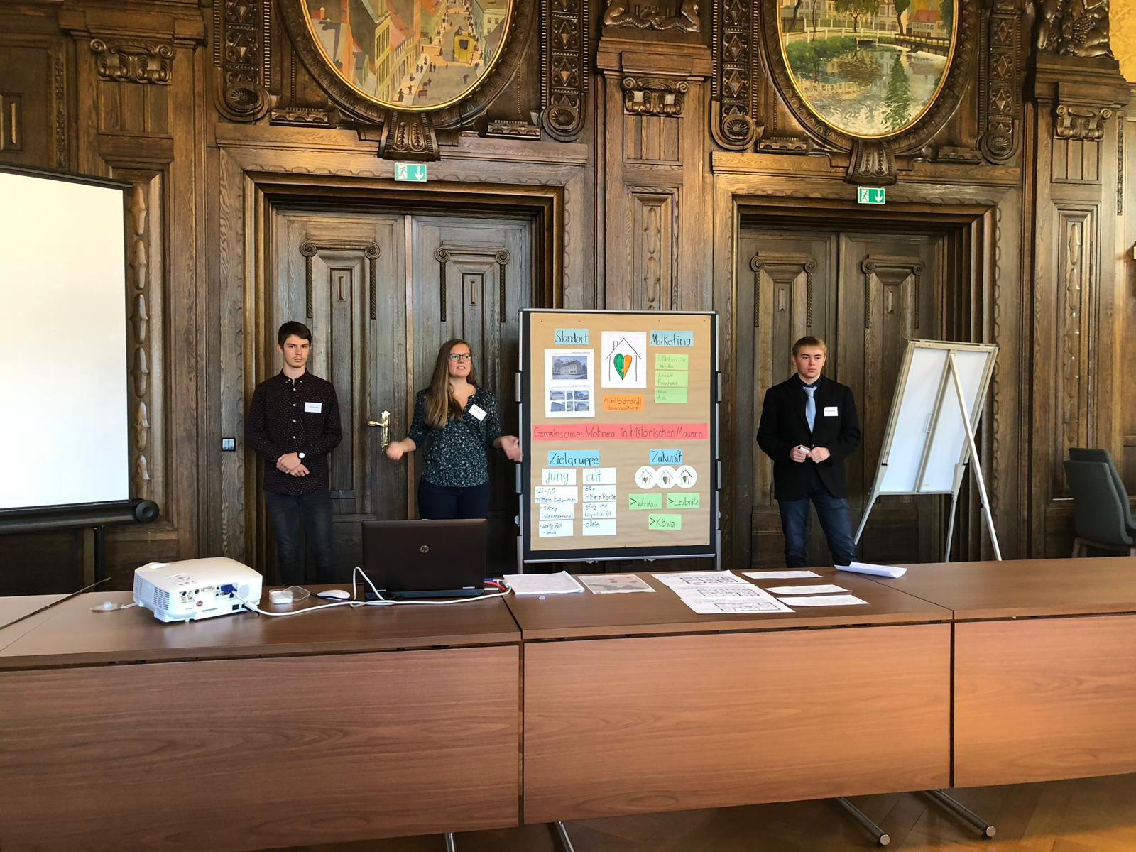 Präsentationstraining Projekt Startup, Abschlusspräsentation Werdauer Rathaus